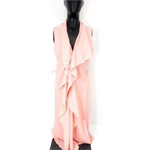 Iris peach color sleeveless cardigan duster size S
